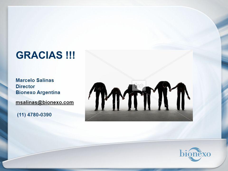 GRACIAS !!! Marcelo Salinas Director Bionexo Argentina
