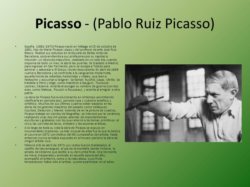 Picasso - (Pablo Ruiz Picasso)