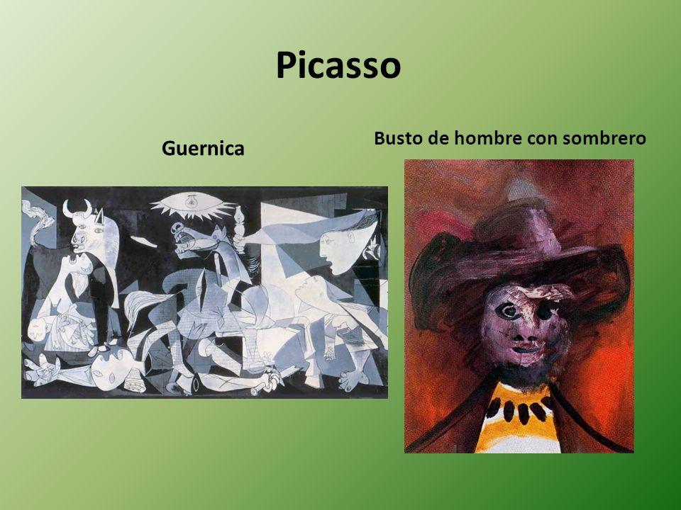 Picasso Busto de hombre con sombrero Guernica