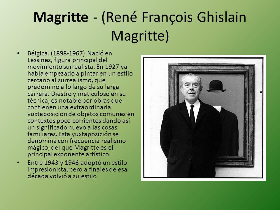 Magritte - (René François Ghislain Magritte)
