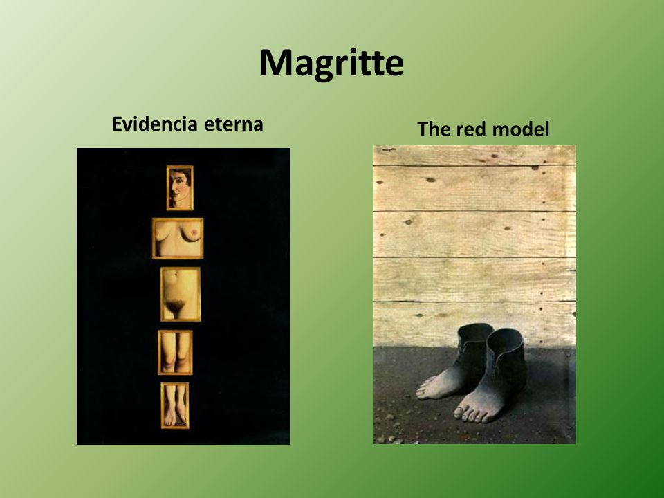 Magritte Evidencia eterna The red model