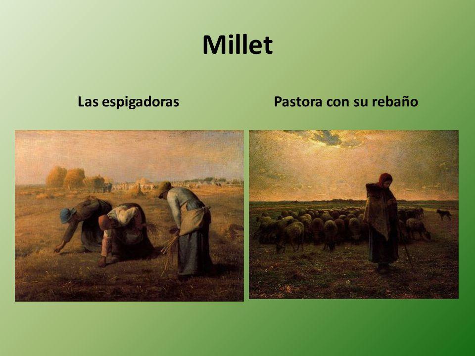 Millet Las espigadoras Pastora con su rebaño