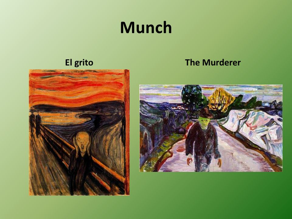 Munch El grito The Murderer