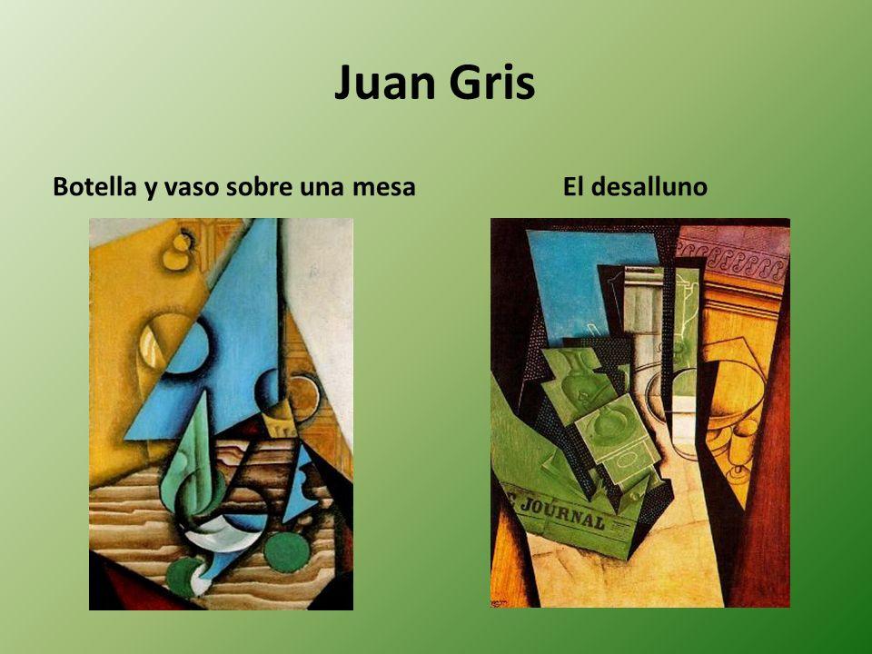 Juan Gris Botella y vaso sobre una mesa El desalluno