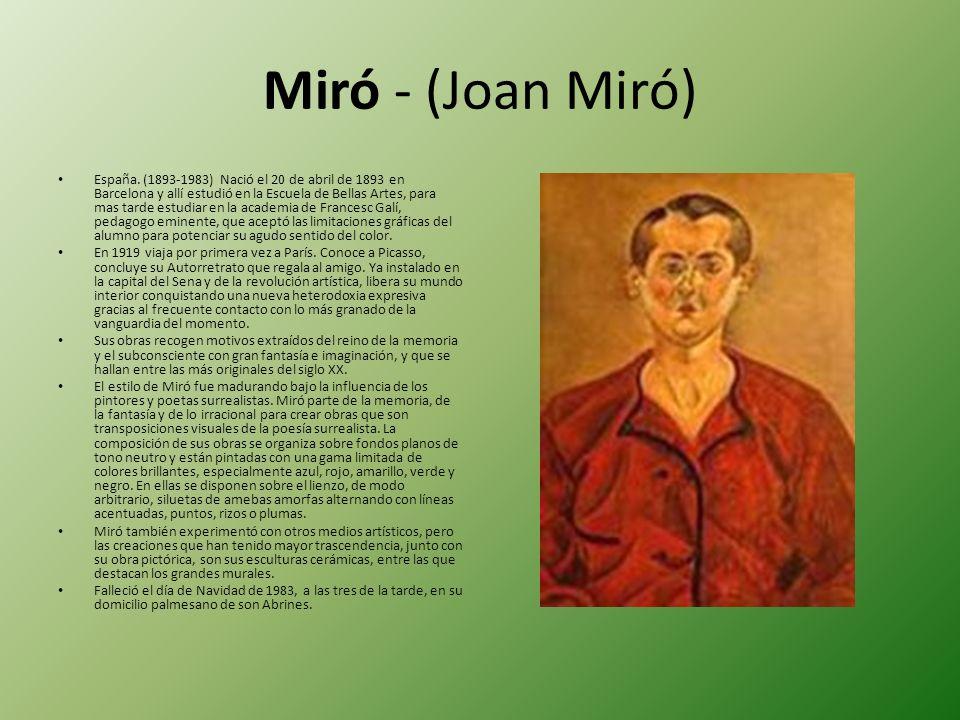Miró - (Joan Miró)