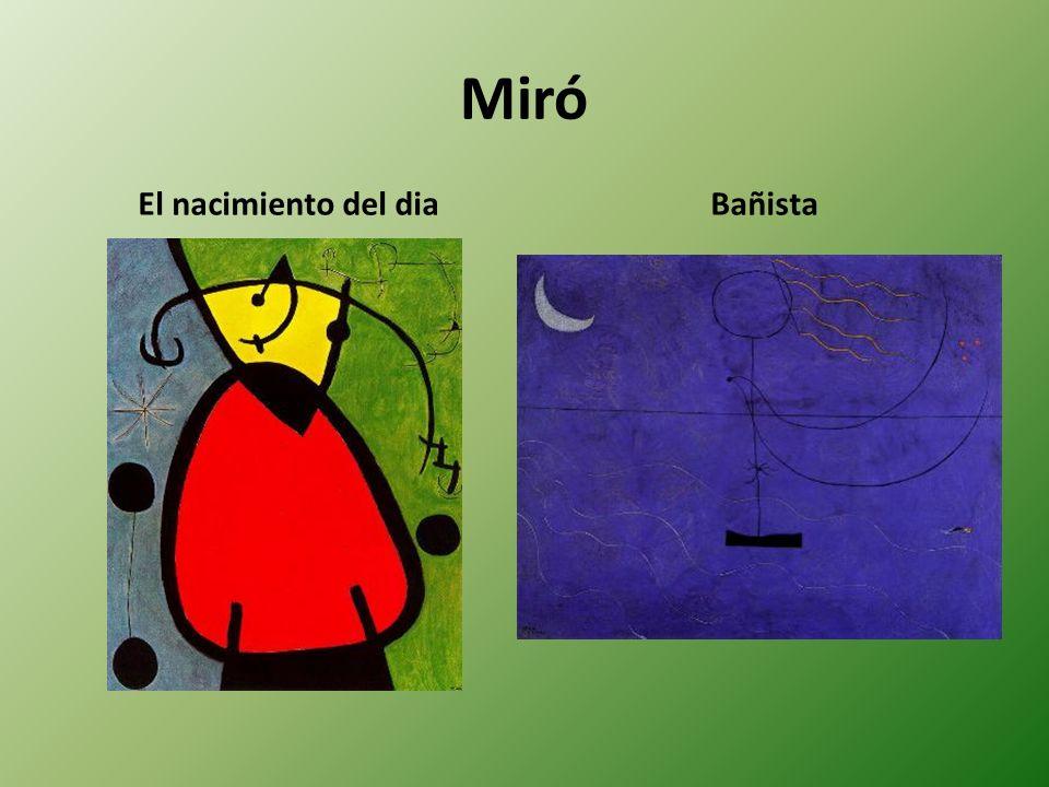 Miró El nacimiento del dia Bañista