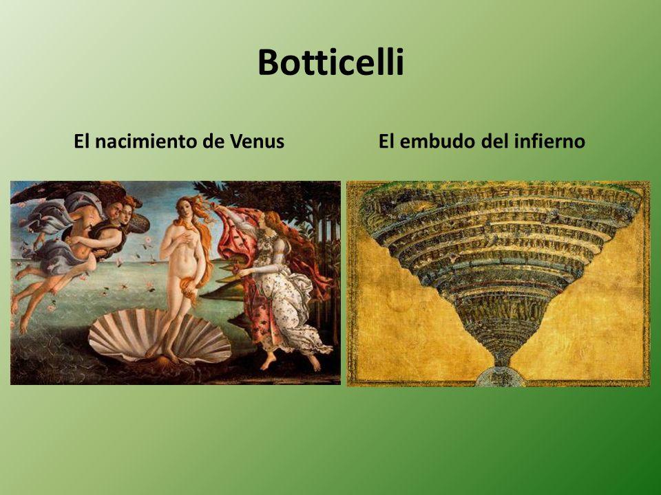 Botticelli El nacimiento de Venus El embudo del infierno