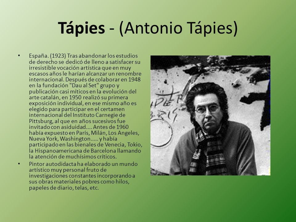 Tápies - (Antonio Tápies)