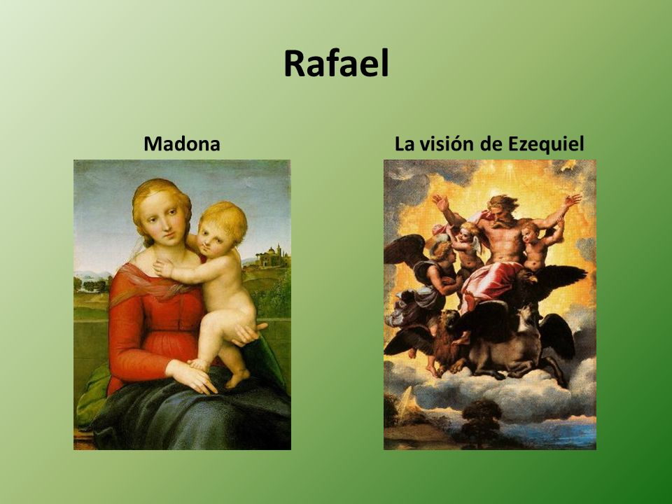 Rafael Madona La visión de Ezequiel