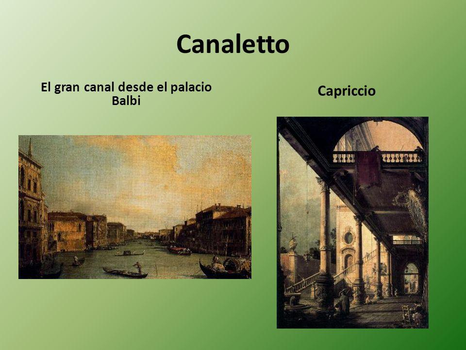 El gran canal desde el palacio Balbi