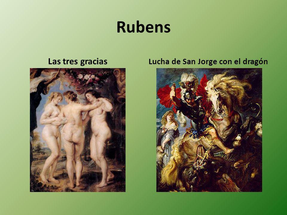 Rubens Las tres gracias Lucha de San Jorge con el dragón