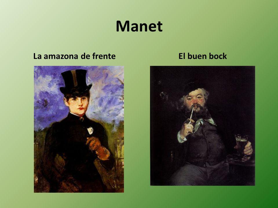 Manet La amazona de frente El buen bock