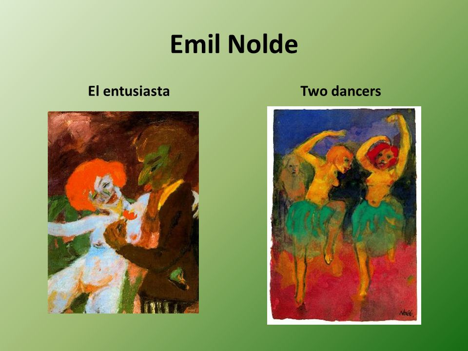 Emil Nolde El entusiasta Two dancers