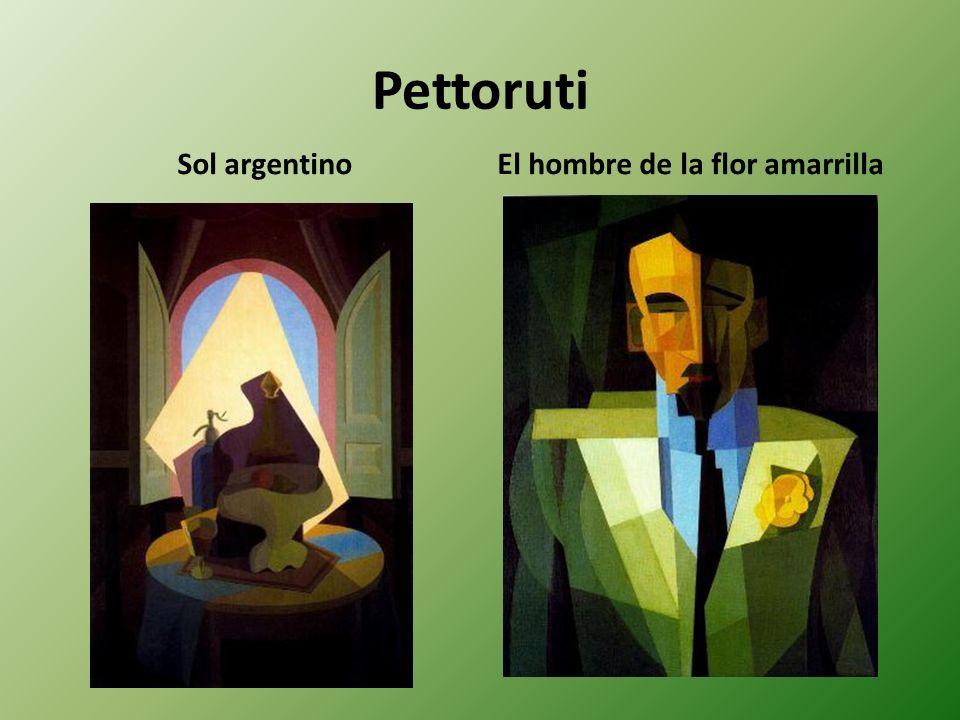Pettoruti Sol argentino El hombre de la flor amarrilla