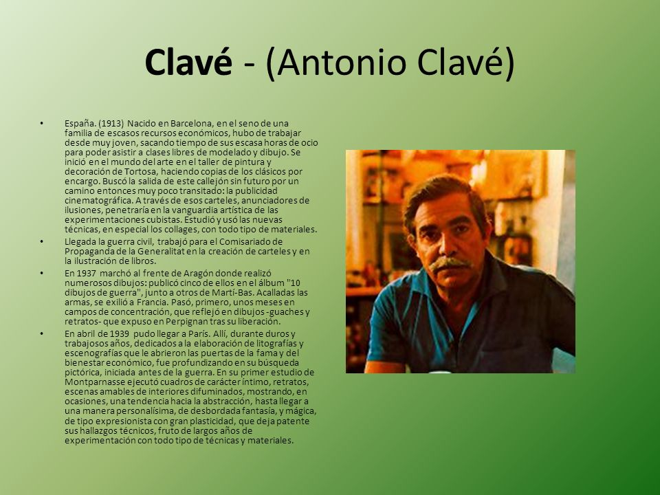 Clavé - (Antonio Clavé)
