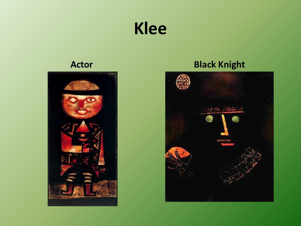 Klee Actor Black Knight