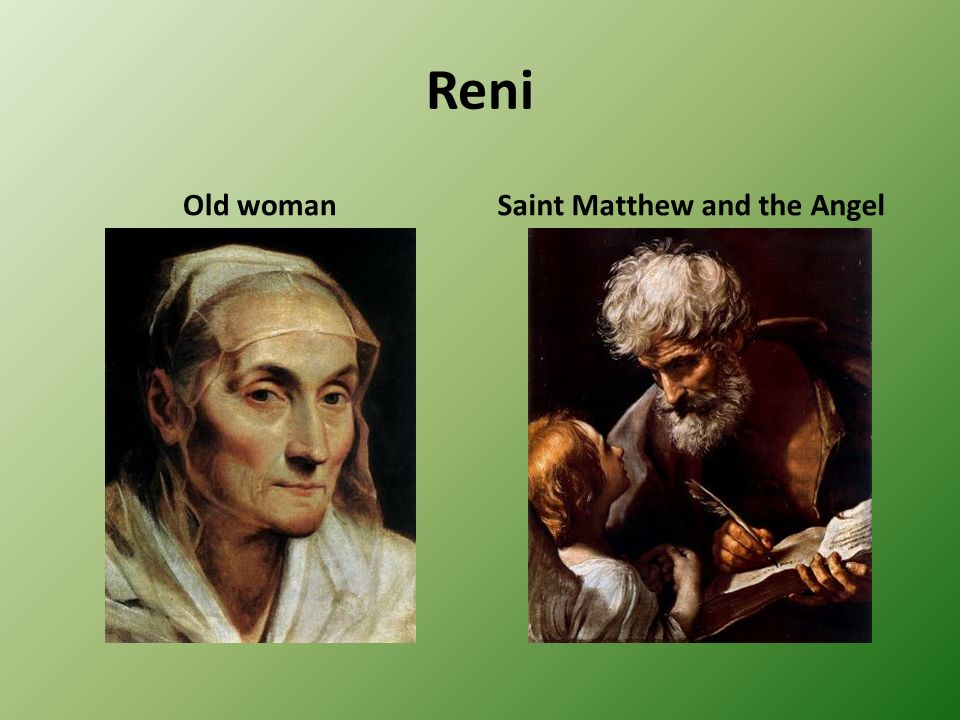 Reni Old woman Saint Matthew and the Angel