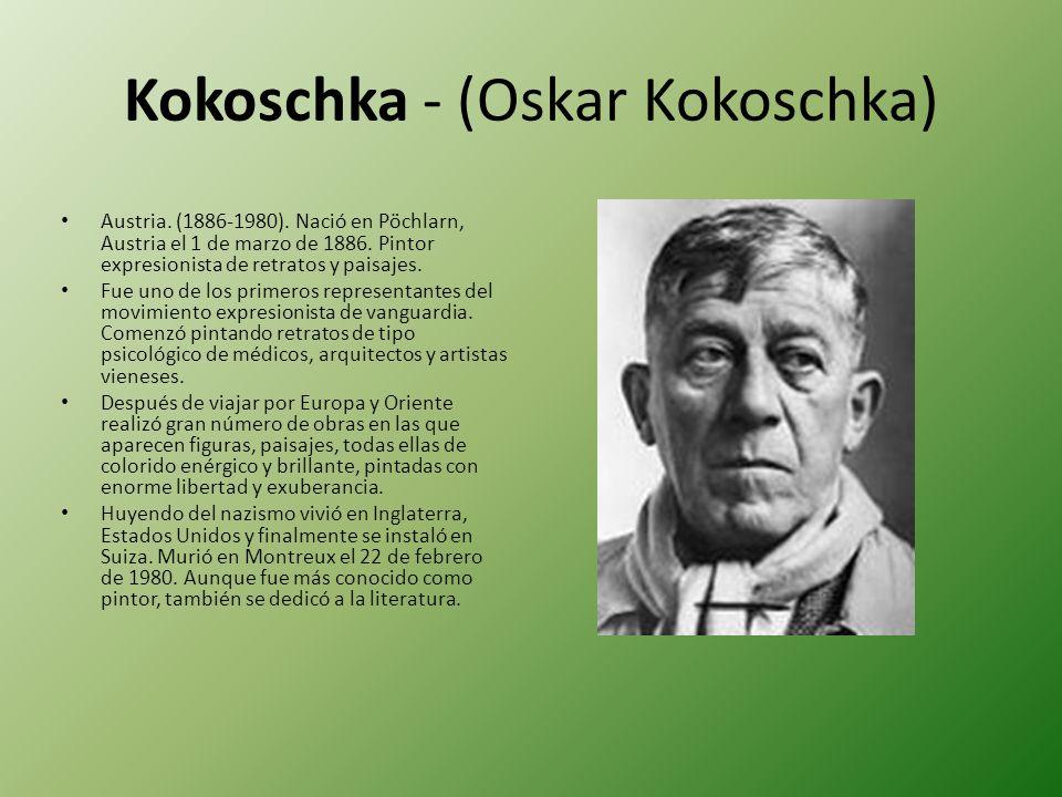 Kokoschka - (Oskar Kokoschka)
