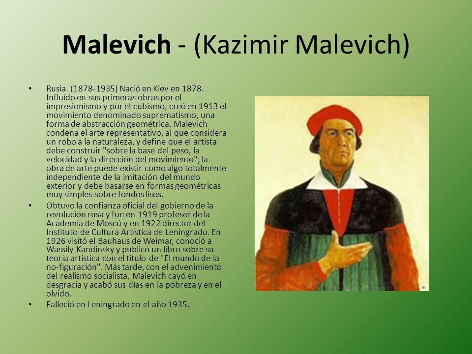 Malevich - (Kazimir Malevich)