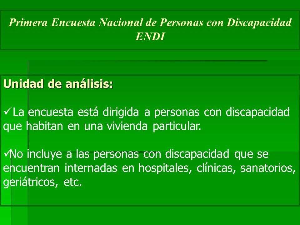 Primera Encuesta Nacional de Personas con Discapacidad