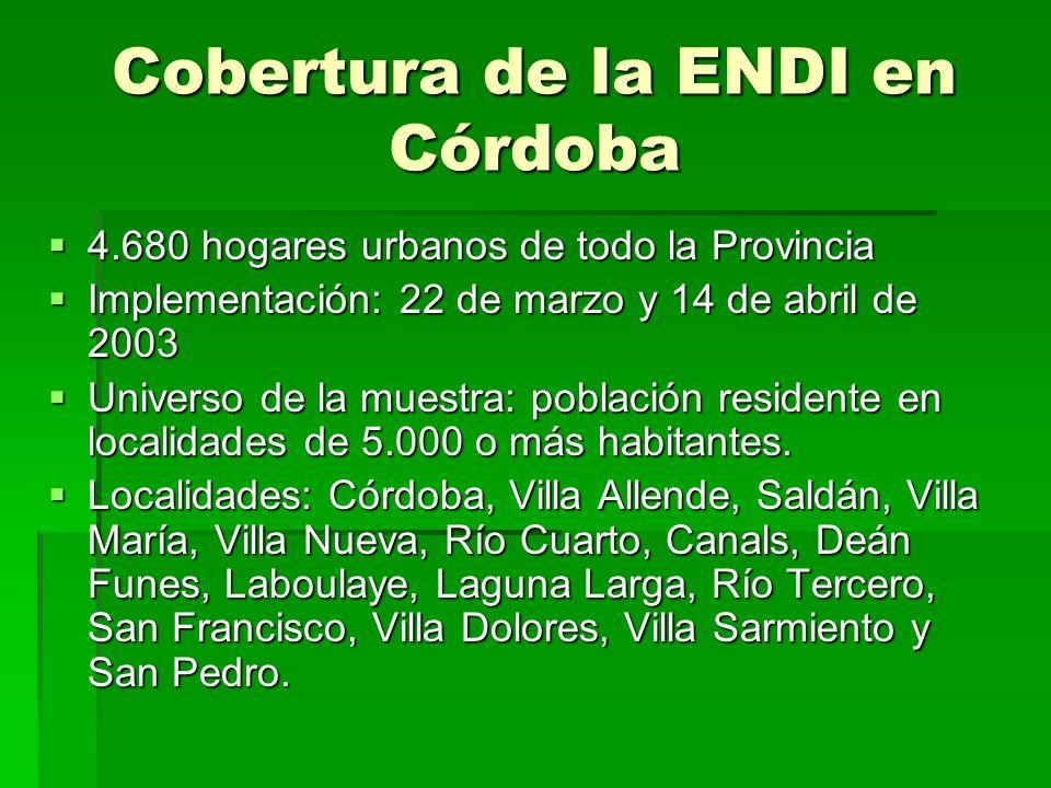 Cobertura de la ENDI en Córdoba