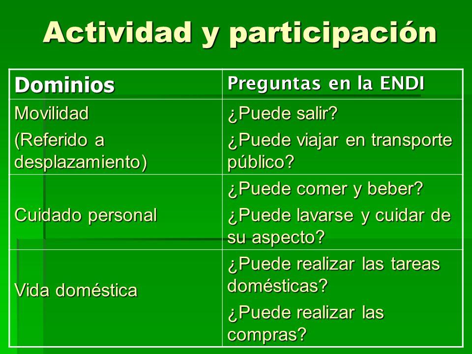 Actividad y participación