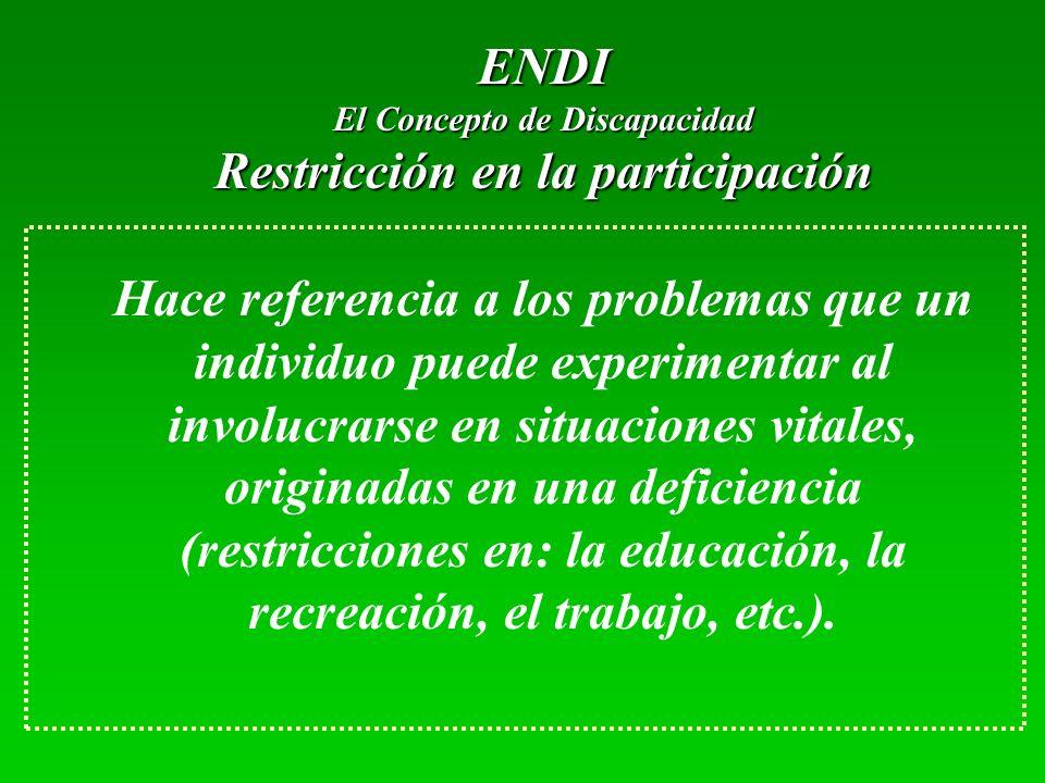 El Concepto de Discapacidad Restricción en la participación