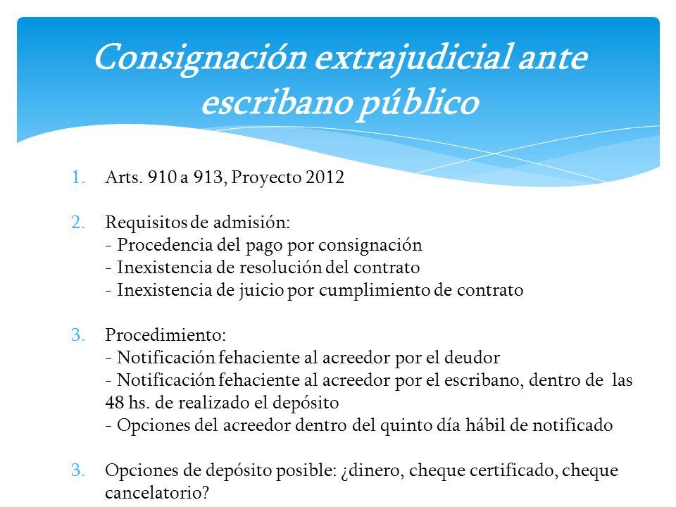 Consignación extrajudicial ante escribano público