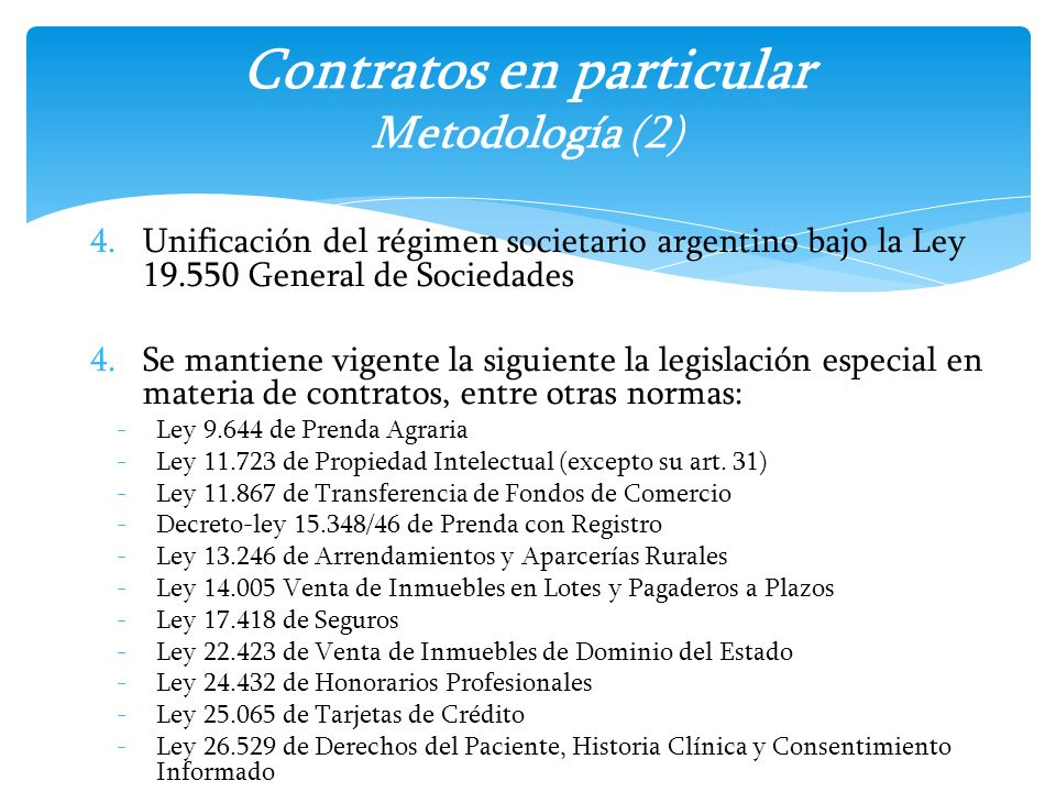 Contratos en particular Metodología (2)