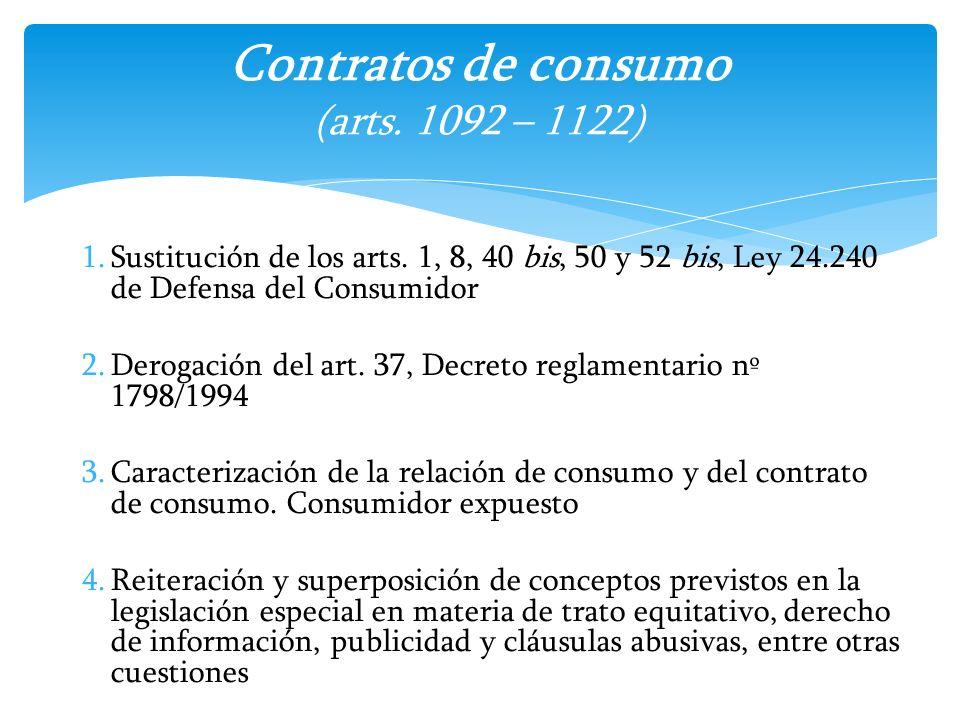 Contratos de consumo (arts. 1092 – 1122)