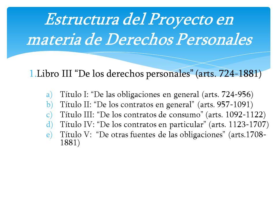 Estructura del Proyecto en materia de Derechos Personales
