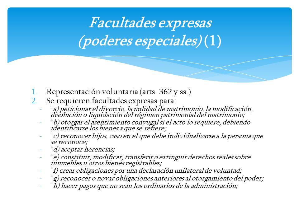 Facultades expresas (poderes especiales) (1)