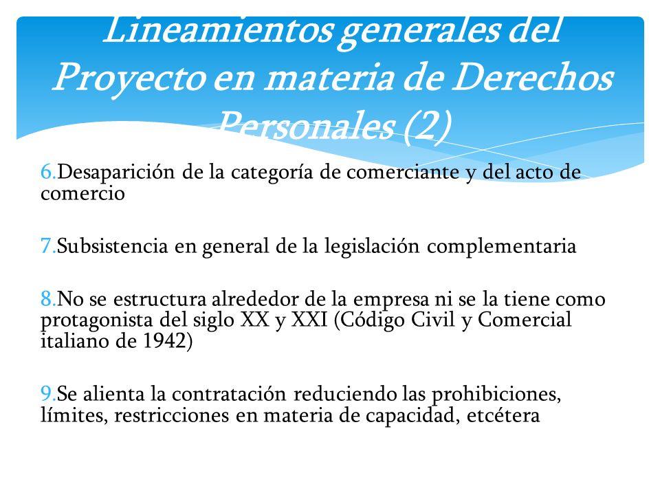 Lineamientos generales del Proyecto en materia de Derechos Personales (2)