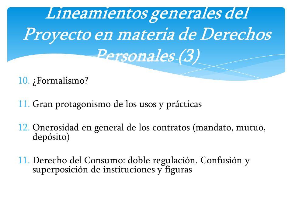 Lineamientos generales del Proyecto en materia de Derechos Personales (3)