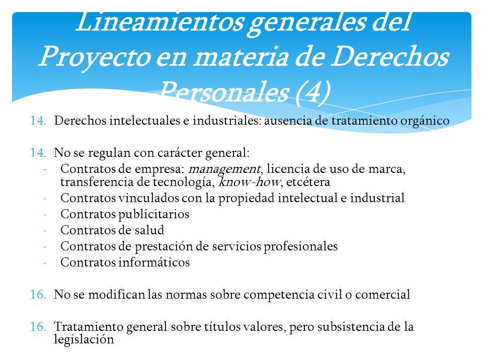 Lineamientos generales del Proyecto en materia de Derechos Personales (4)
