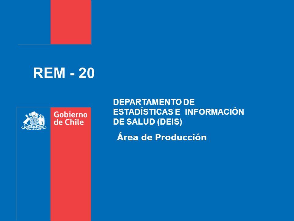 REM - 20 DEPARTAMENTO DE ESTADÍSTICAS E INFORMACIÓN DE SALUD (DEIS)