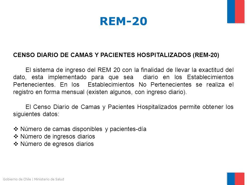 REM-20 CENSO DIARIO DE CAMAS Y PACIENTES HOSPITALIZADOS (REM-20)