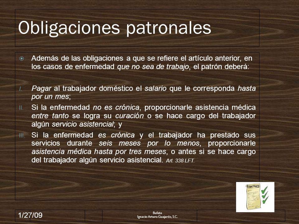 Obligaciones patronales