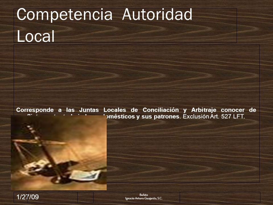 Competencia Autoridad Local
