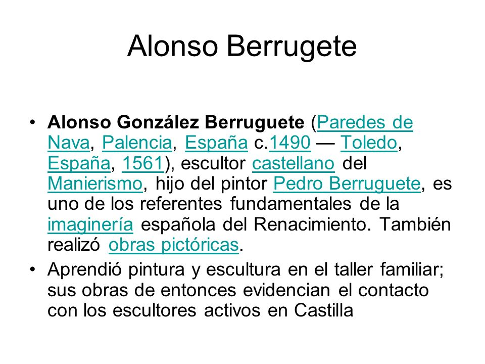 Alonso Berrugete