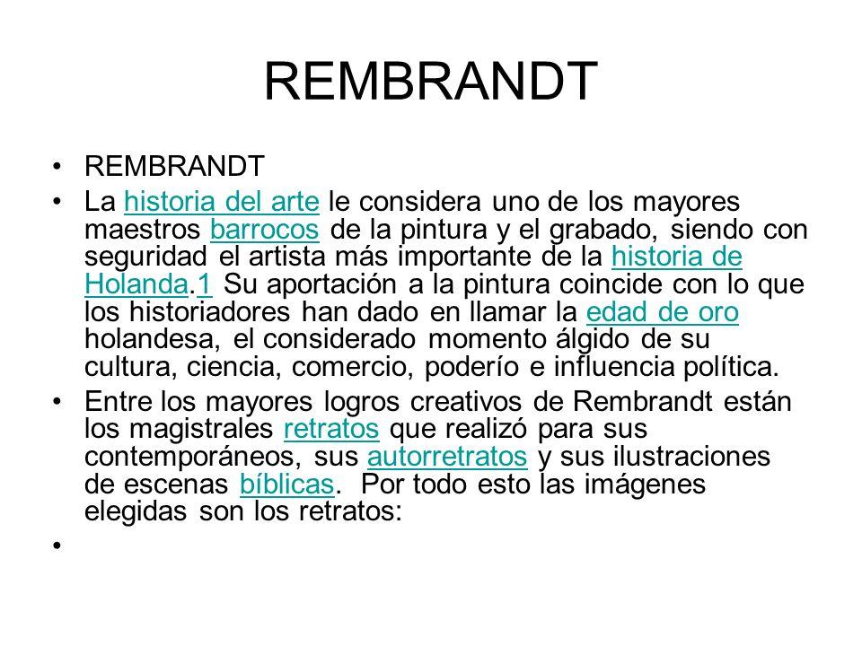 REMBRANDT REMBRANDT.
