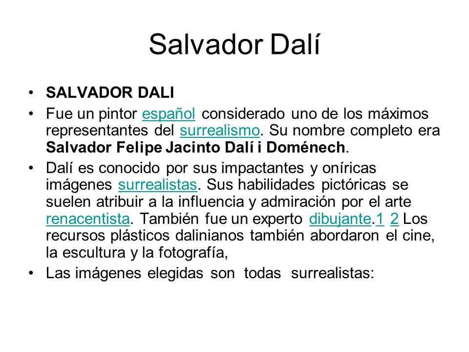 Salvador Dalí SALVADOR DALI