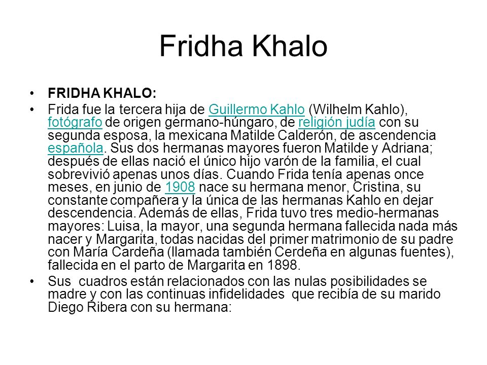 Fridha Khalo FRIDHA KHALO: