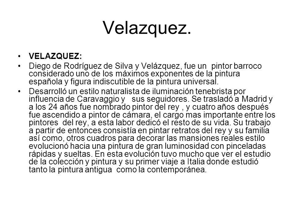 Velazquez. VELAZQUEZ: