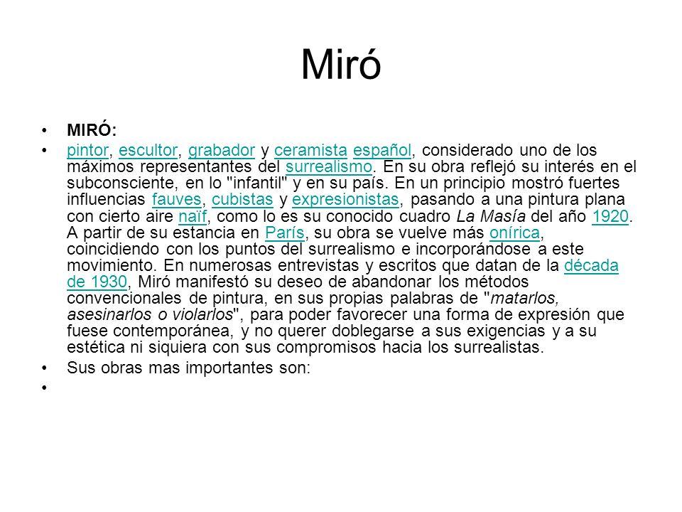 Miró MIRÓ: