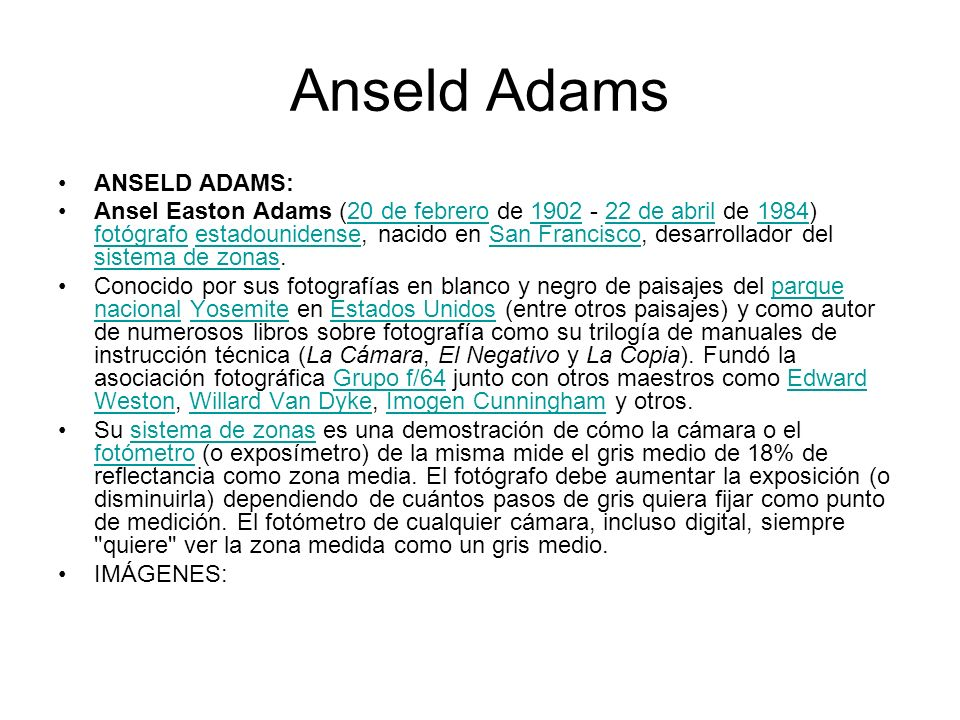 Anseld Adams ANSELD ADAMS: