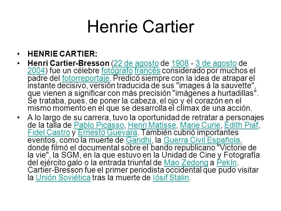 Henrie Cartier HENRIE CARTIER: