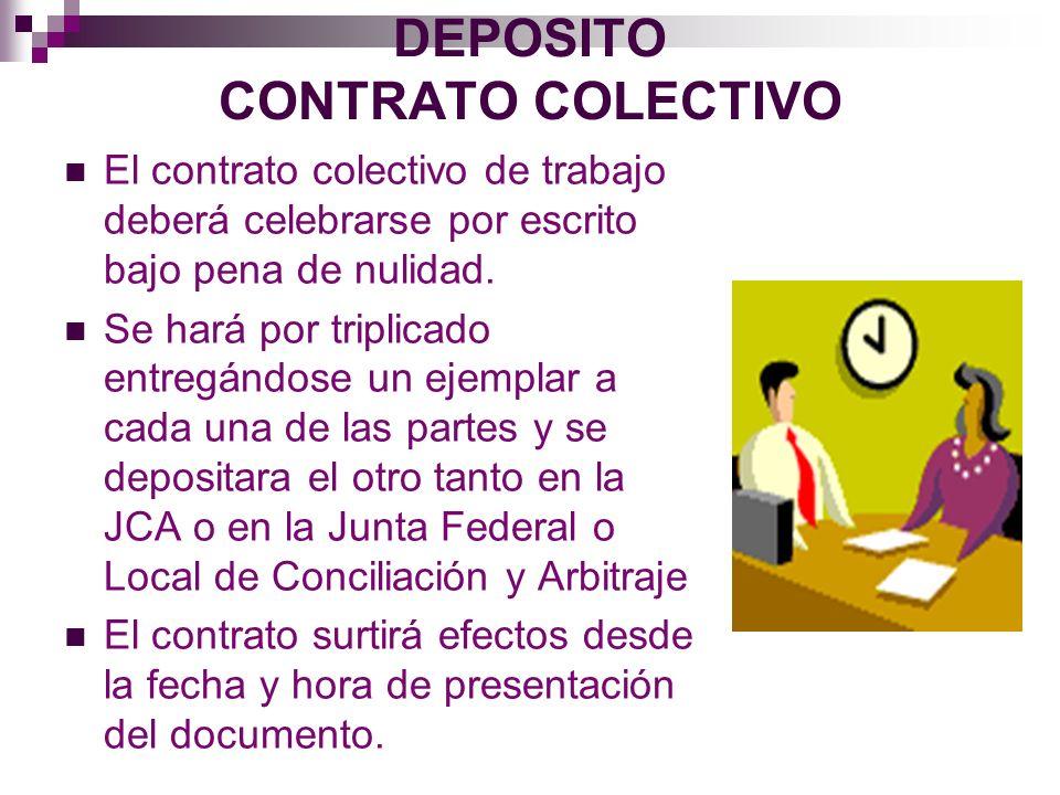 DEPOSITO CONTRATO COLECTIVO