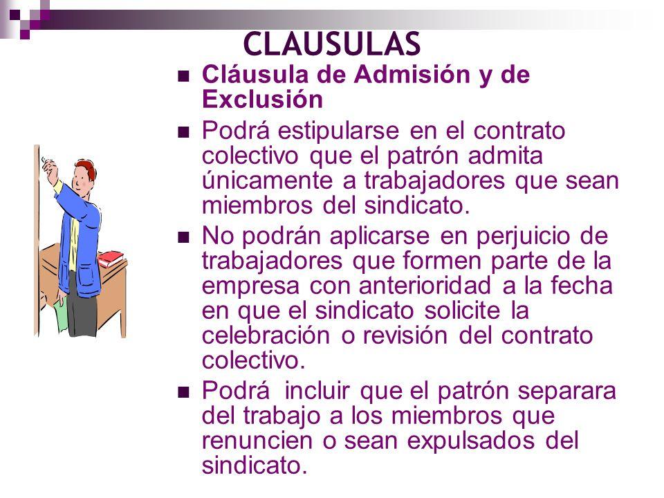 CLAUSULAS Cláusula de Admisión y de Exclusión