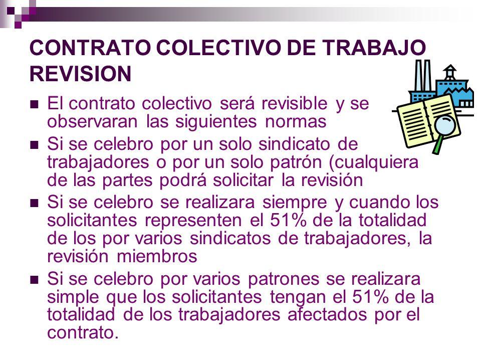CONTRATO COLECTIVO DE TRABAJO REVISION